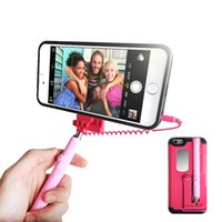 abs plastic wire - 2016 newest iPhone S Plus Selfie Stick Portable Extendable Monopod Wired Selfie Stick Case Cover for Apple iPhone Plus iPhone S Plus