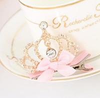 Wholesale Children Crown High Quality Rhinestone Crown Tiara Bridal Hair Accessories Headband For Women Girl Party Birthday Gift