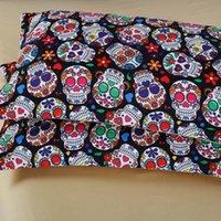 Cheap 3D Skull Halloween Bedding Set Skull Home Textile Bedspread Queen Size Bed Duvet Cover set Luxury King Bedding Sets Bed Sheet