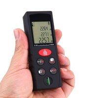 Wholesale 100m ft High Precision Laser Rangefinder Digital Distance Meter Handheld Range Finder Area Volume Measurement Level Bubble