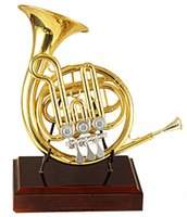 Wholesale High F Rotary Post Horn With Bag and Stand Brass Musical instruments