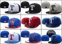 baseball field sizes - Men s Texas Rangers Fitted Hats Embroidered Team Logo White Letter T USA Flag Sport On Field Design Baseball Full Closed Caps Size Hats