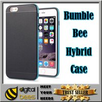 bee cases - bumble bee hybrid phone case for Iphone s plus samsung s7 edge PC TPU phone housing slim color edge back cover quality protection