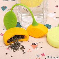 enamel teapot - Silicone Teabag Tea Strainer Infuser Teapot Teacup Filter Bag Lemon Style Hot Sales Tea Tools Kitchen Drinkware