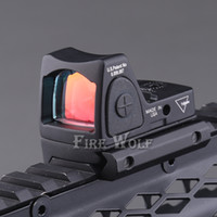Wholesale 2017 New Trijicon Style Reflex Tactical Adjustable Red Dot Sight Scope for Rifle Scope Hunting Shooting
