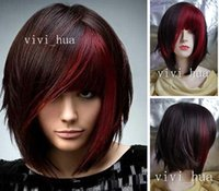 Wholesale 2016Wigs New Fashion Women Party Cosplay Short Straight Brown Sexy Full Hair Wig
