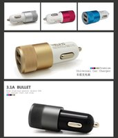 Wholesale Car charger head for cellphones with double USB A A Rechargeable cigarette lighter KX
