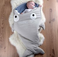 Wholesale New Shark Sleeping Bag Newborns Sleeping Bag Winter Strollers Bed Swaddle Blanket Wrap Cute Bedding Baby Sleeping Bag BaBy