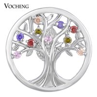 cz stones - VOCHENG NOOSA CZ Stone Ginger Snap Jewelry Colors mm Copper Material Tree Button Vn