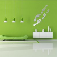 beautiful still life - Beautiful Design Mirror Wall Sticker Footprint Shaped Hot High Quality For Home Decoration New