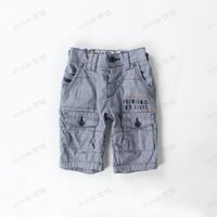 arrival cargo shorts - New arrival Baby grid leisure shorts pants Boys kids Cargo Shorts
