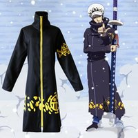 wicca - 2 years after the One Piece Trafalgar Law Jacket cape cosplay performance clothing Wicca Robe Witch Larp Cape Women Men Halloween Costumes W