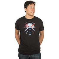 Wholesale The Witcher Medallion Men s Short Sleeve Black Tee Shirt