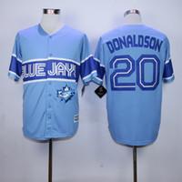 Wholesale 2016 New Exclusive Blue Jays Baseball Jerseys Men DONALDSON Blue Jerseys stitched Top quality Mix Order