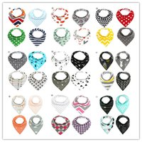 Wholesale Baby Bibs Cartoon Burp Clothes Bandana Bibs Cotton Soft Kids Toddler Double Layer Triangle Scarf Bib Feeding Accessories Infant Saliva Towel