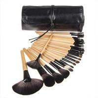 Wholesale 24Pcs Set Professional Makeup Brush Set Kits Synthetic Fiber Hair Brushes Powder Eyelash Eyebrow Blush Blending Makeup Brushes