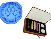 bear wedding invitations - Vintage Bear Paw Custom Picture Wedding Invitation Wax Seal Stamp Stick Box Set