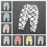 Wholesale INS Children Leggings Pants Boy Girl Baby Cute Trousers Cartoon Animal Fruit Spring Autumn Cotton Printed Pyjama Home Outdoor Patterns