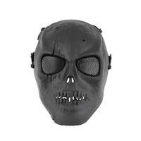 Venta al por mayor Cráneo Esqueleto Ejército Airsoft Paintball BB Arma Juego de Cara Completa Proteger Máscara Búsqueda caliente