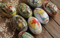 Wholesale zakka grocery tin tin fairy tale cottage home daily resurrection storage box large egg