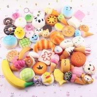 ball panda - 10Pcs Jumbo Key Rings Key chain Medium Mini Random Squishy Soft Panda Bread Cake Buns Phone Straps
