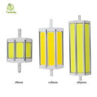Tanbaby R7S COB ampoule led Dimmable R7S led 78mm118mm 189mm 10W 15W 20W éclairage lampe AC85-265V remplacer Projecteur halogène