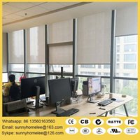 Wholesale motorize roller shade for home and office battery and electric operate size customed compatible with Lutron system