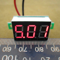Wholesale Brand New Red Digital Voltage Panel Meter Voltmeter DC V V For V V V car