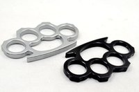 Wholesale 20PCS Silver and Black Thin Steel Brass knuckle dusters Self Defense Personal Security Women s and Men s self defense Pendant