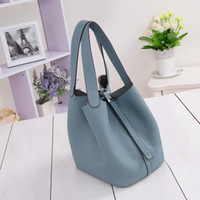 Wholesale Women s handbags H famous brands top quality Genuine leather bag designer Luxury brand picotin lock ladies shopping bag