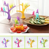 Wholesale Hot Selling Multifunction Tree Shape Forks Holder Flying Bird Forkes Home Decor Yellow Green Purple Rose Red