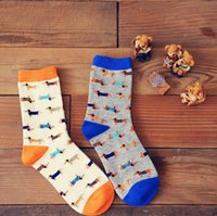 Wholesale Caramella animal socks Sausage dog dachshund Ido hvalp hush pup puppy huisdier pet szczeniak retail support zoo