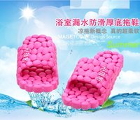 bathroom shower board - 2016 New Summer Korean men and women board bathroom slippers slip indoor and outdoor massage sandals and slippers home care