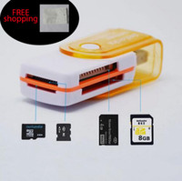 Adaptateurs duo memory stick France-Prix d'usine carte multi en 1 connecteur adaptateur USB 2.0 micro SD TF M2 clé USB MS Duo RS-MMC lecteur de mémoire