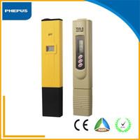 Wholesale Professional PH meter digital portable pen type ph meter tester tester Full kit of pH Meter tds meter