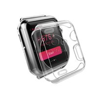 Wholesale Apple Watch full body case Ultra Thin Slim Transparent soft TPU case skin for apple watch mm mm without retail box