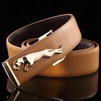 alloy floor - 2016 New Arrival fashion wild Jaguar Alloy smooth buckle belt men s belt leather belt leather floor