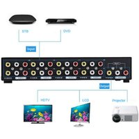 audio port splitter - Audio Video Switch RCA AV Splitter Box Ports Switcher Selector Input Output Switch
