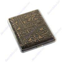 Wholesale pc Egyptian Metal Cigarette Case Style Hard Metal Cigarette Box Holding Cigarettes
