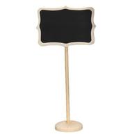 Wholesale Cute Blackboard Rectangle Shape Chalkboard Wordpad Message Note Board Holder Clip Notice Number Tag Board Wedding Decor