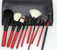 animal hair brush - New Arrive Goat hair animal hair Kabuki Makeup Brush Set Cosmetics Foundation blending blush makeup tool