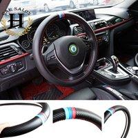 Wholesale 38CM Car Styling Steering Wheel Cover Interior Decoration Carbon Fiber Car styling For BMW X1 X3 X5 E36 E39 E46 E30 E60 E90 F30