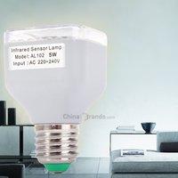 base auto body - 5W Led Lamp AL102 Infrared Human Body Inductive E27 Base LEDs Spotlight Auto PIR Light Refletor Led V LM Led Light