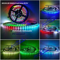 Wholesale M WS2812B SK6812 LED LED LED M Led strip light RGB Individually Addressable DC5V waterproof IP65