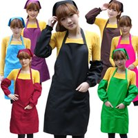Wholesale Custom promotion cooking apron hotel apron coffee shop apron with silkimprint or embroidery logo MOQ
