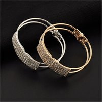 Wholesale Fashion Blingbling Crystal Cuff Bracelet Shiny Rhinestone Wristband Hand Chain Bangles Bracelets Best Gifts For Women
