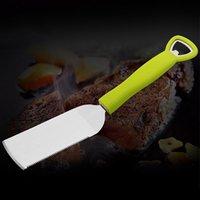 Wholesale 3 in Steak Turner Knife Bottle Opener Corkscrew for Cooking Steaks or Frying Food Kitchen Utensils Cooking Tools Green Color