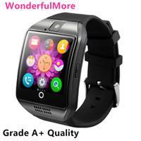 android tft - New Arrival TFT HD Q18 Smart Watch D Arc Screen Clock With Sim Slot NFC Bluetooth Connect iPhone Android Phone