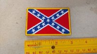 Wholesale 3 X inches x cm Confederate Flag Patch iron on patch RARE hard to find FREE SHIP