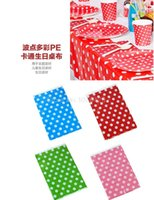 Wholesale Waterproof Disposable Plastic Polka Dots Tablecover One time Rectangular Tablecloth For Wedding Party Drinking cm
